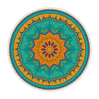 Cartão colorido de ornamento com mandala
