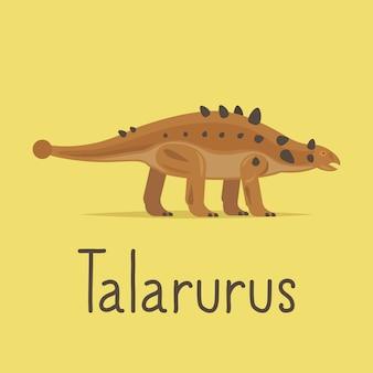 Cartão colorido do dinossauro de talarurus