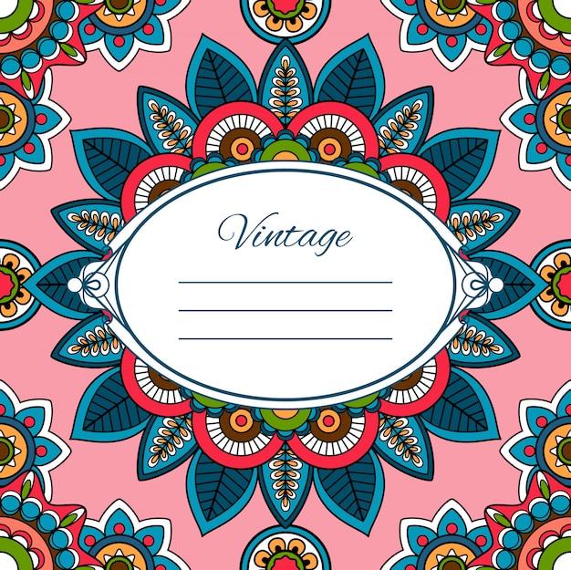 Cartão colorido estilo boho