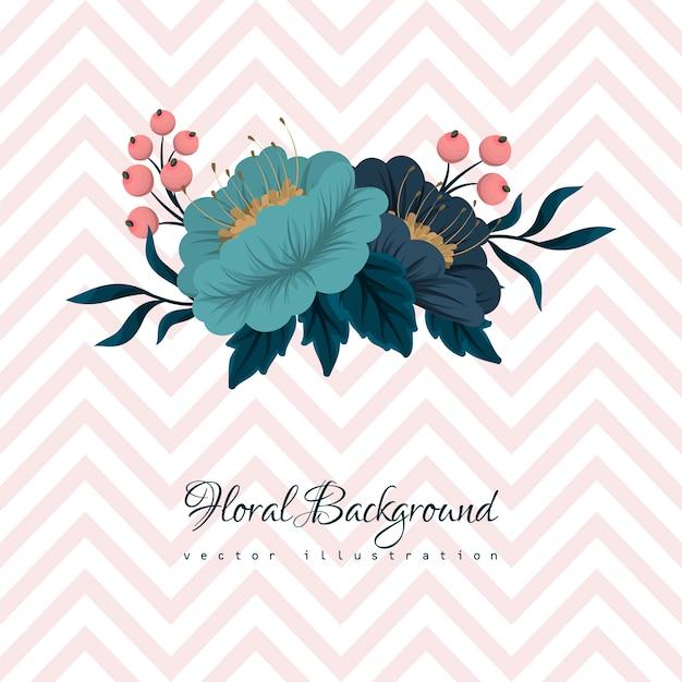 Cartão com aquarela de flores