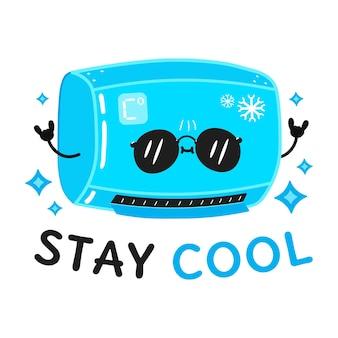 Cartão com ar condicionado fofo