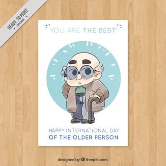 Cartão com bom vovô