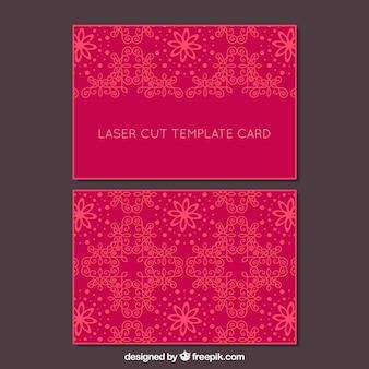Cartão com detalhes ornamentais