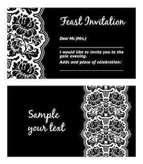 Cartão com enfeite de flor