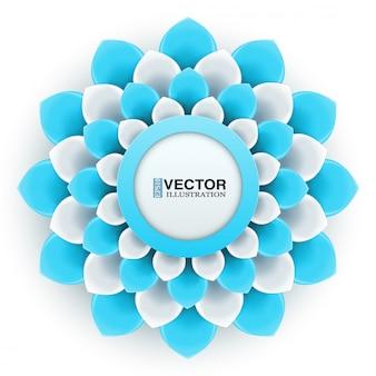Cartão com flor azul claro