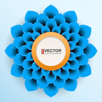 Cartão com flor azul