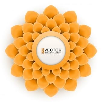 Cartão com flor de laranjeira Vetor Premium