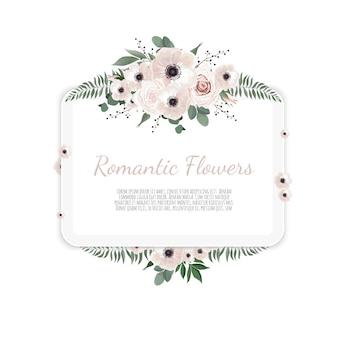 Cartão com flor rosa