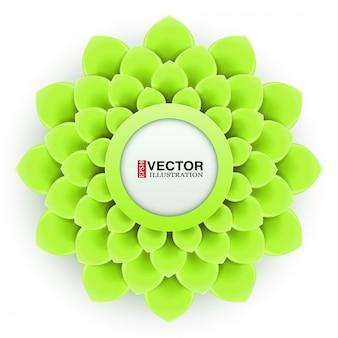 Cartão com flor verde claro