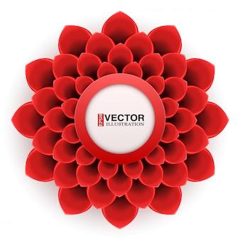 Cartão com flor vermelha