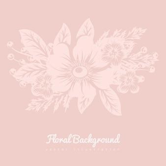 Cartão com flores, aquarela.