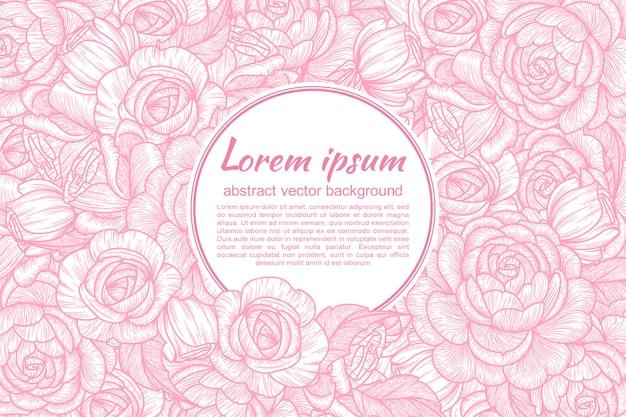 Cartão com flores de rosas.
