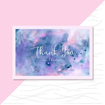 Cartão com fundo aquarela abstrata