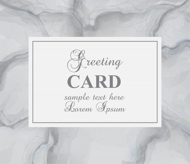 Cartão com fundo de mármore cinza