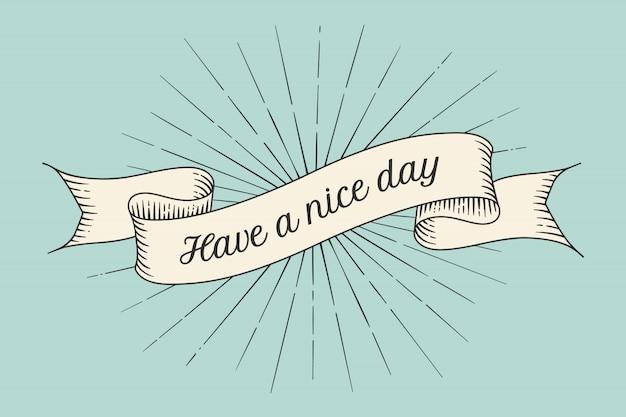 Cartão com inscrição tenha um bom dia