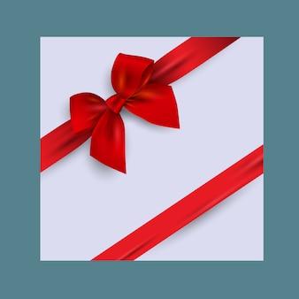 Cartão com laço vermelho realista
