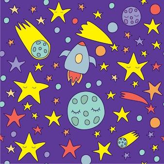 Cartão com lindos planetas