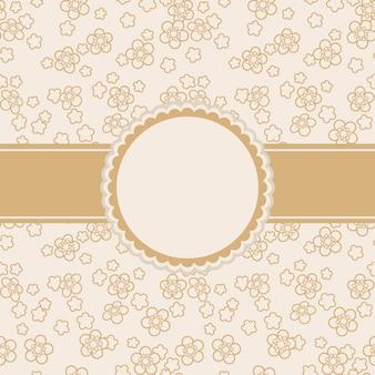 Cartão, com, ornamento floral