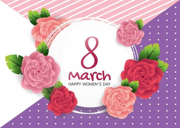 Cartão com rosa cor de rosa.
