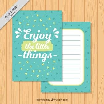 Cartão com uma citação motivadora