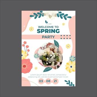 Cartão comemorativo da primavera