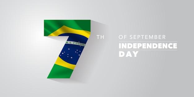 Cartão comemorativo do dia da independência do brasil