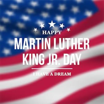 Cartão comemorativo do dia de martin luther king jr