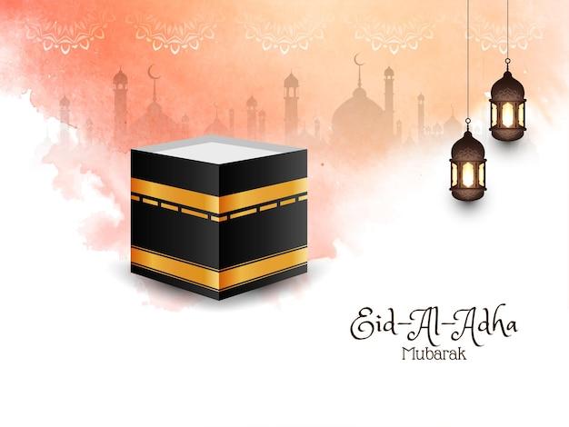 Cartão comemorativo do festival islâmico eid-al-adha mubarak