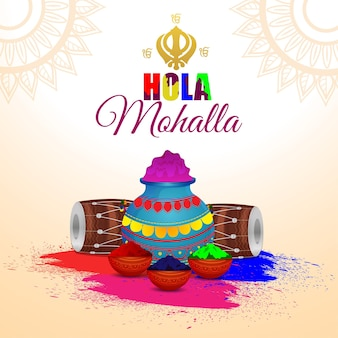 Cartão comemorativo do festival sikh de celebração hola mohalla