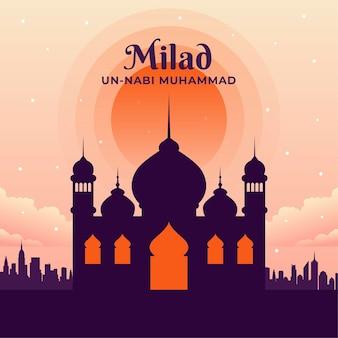 Cartão comemorativo milad-un-nabi
