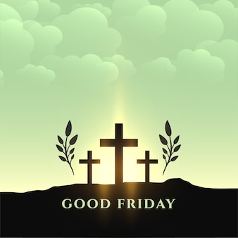 Cartão comemorativo tradicional de sexta-feira santa semana santa