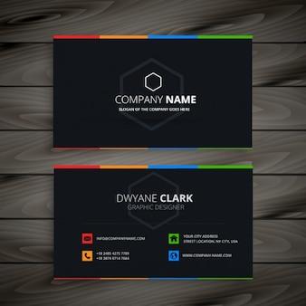 Cartão companhia escuro