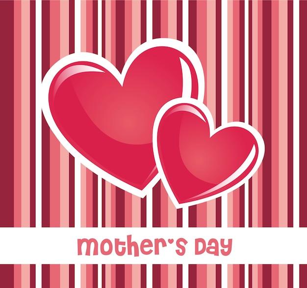 Cartão cor-de-rosa do dia de mães