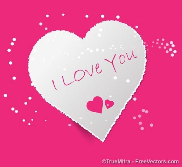 Cartão coração dos namorados - eu te amo