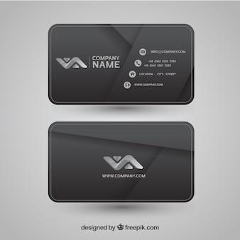 Cartão corporativo abstrato cinza