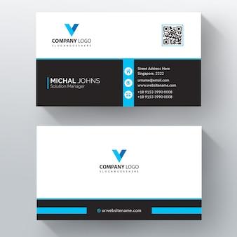 Cartão corporativo azul e preto