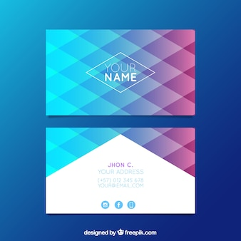 Cartão corporativo colorido de diamante