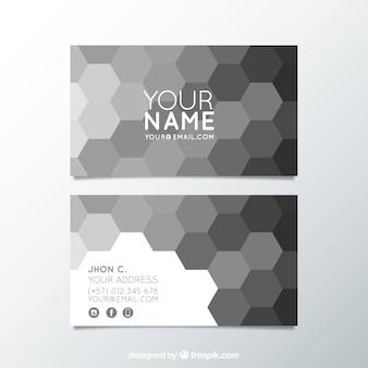 Cartão corporativo com hexágonos