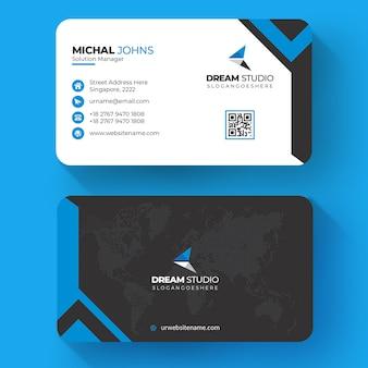 Cartão corporativo elegante azul