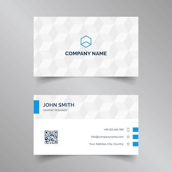 Cartão corporativo elegante em cores azuis e brancas