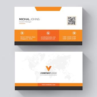 Cartão corporativo elegante laranja