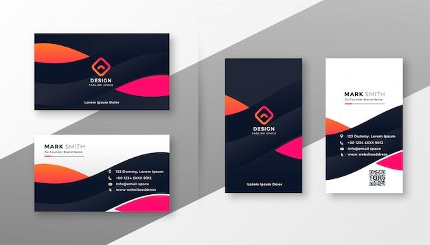 Cartão corporativo elegante para o seu negócio