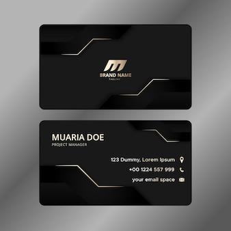 Cartão corporativo elegante profissional
