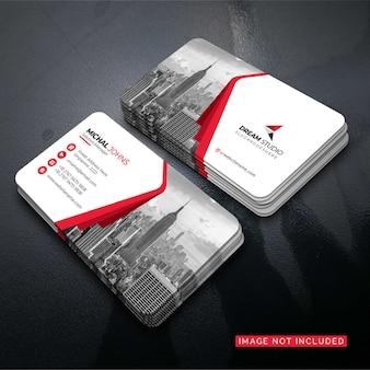 Cartão corporativo elegante vermelho