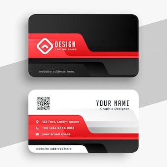 Cartão corporativo profissional no tema de cor vermelha