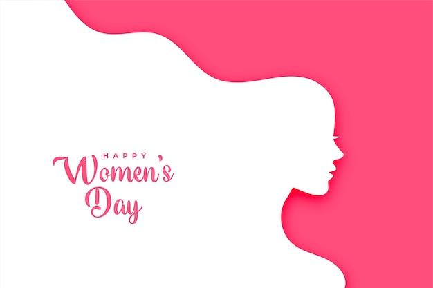 Cartão criativo do feliz dia da mulher em estilo simples
