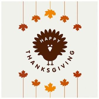 Cartão criativo feliz dia de ação de graças