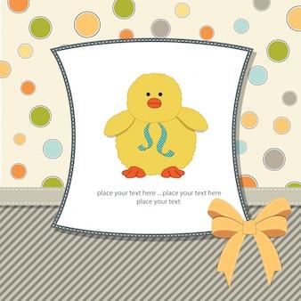 Cartão customizável com pato