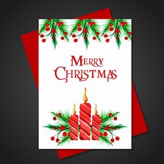 Cartão da aguarela do natal
