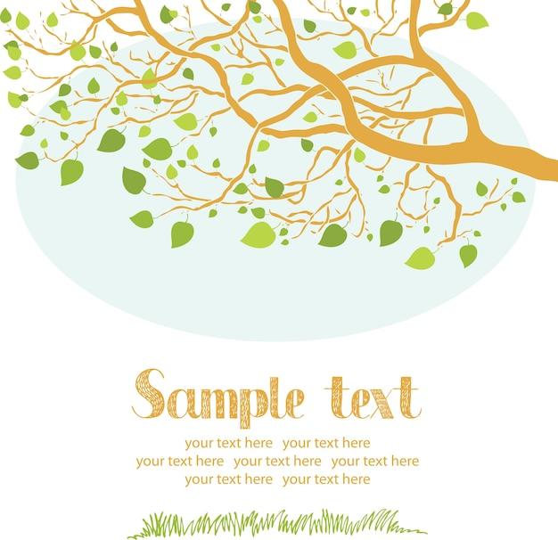 Cartão da árvore da mola